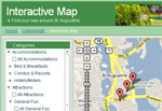 Snapshot of Interactive Map in St. Augustine, Florida.