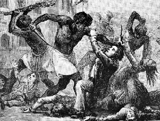 The Haitian Revolution began with a slave revolt in 1791.