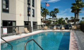 Refreshing Pool at the Hampton Inn at I-95 in historic St. Augustine.