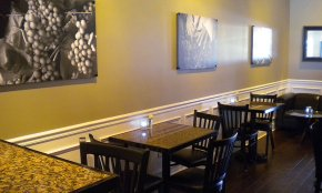 Ripe provides indoor seating for you to enjoy their organic and fresh entrees!
