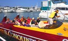 El Conquistador Speedboat Tours leaves the Municipal Marina for an exciting tour of St. Augustine!