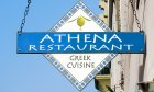 Athena Greek Restaurant is located a block off the bayfront in Historic Downtown St. Augustine, Florida