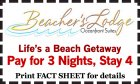 Pay for 3 Nights, Stay 4!