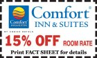 Comfort Inn & Suites: 15% OFF Room Rate