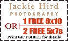 Jackie Hird Photography: Get 1 FREE 8x10 OR 2 FREE 5x7s