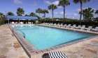 Pool at La Fiesta oceanfront hotel in St. Augustine Beach, Florida.