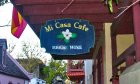 Mi Casa Café sign in St. Augustine.
