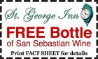 FREE Bottle of San Sebastian Wine