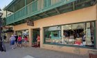 Located on St. George Street beside Saint George Dinnerware in St. Augustine, Florida.