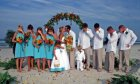 Beautiful beachside wedding with Sun and Sea Beach Weddings.