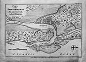 1783 Map of the Plan of St. Augustin