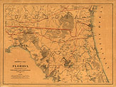 North Florida Map, 1864