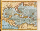1730 West Indies Map