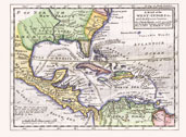 1727 Map of the West Indies