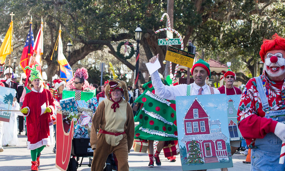 The Christmas Parade.Christmas Parade 2019 Visit St Augustine
