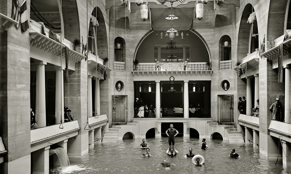 The Former Swimming Pool Of Alcazar Hotel In St Augustine Fl