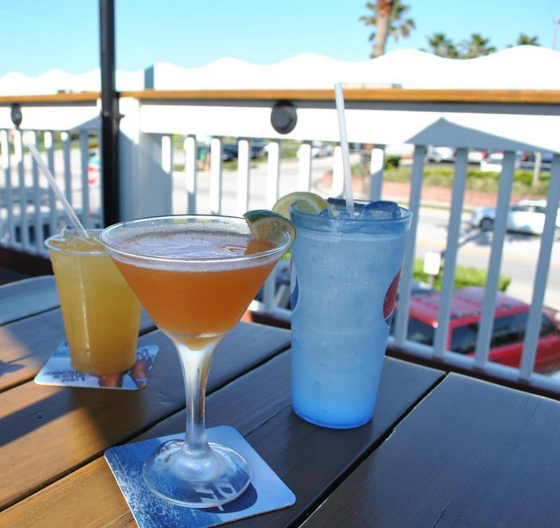Drinks on the top deck of Sunset Grille in St. Augustine Beach.