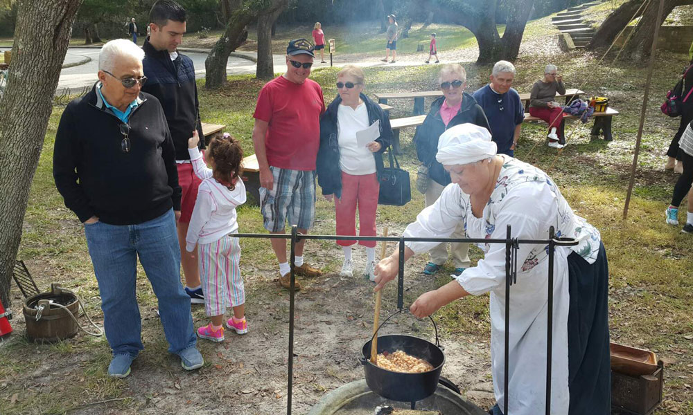 Living History At Fort Matanzas Spanish Colonial Kitchen Visit St Augustine
