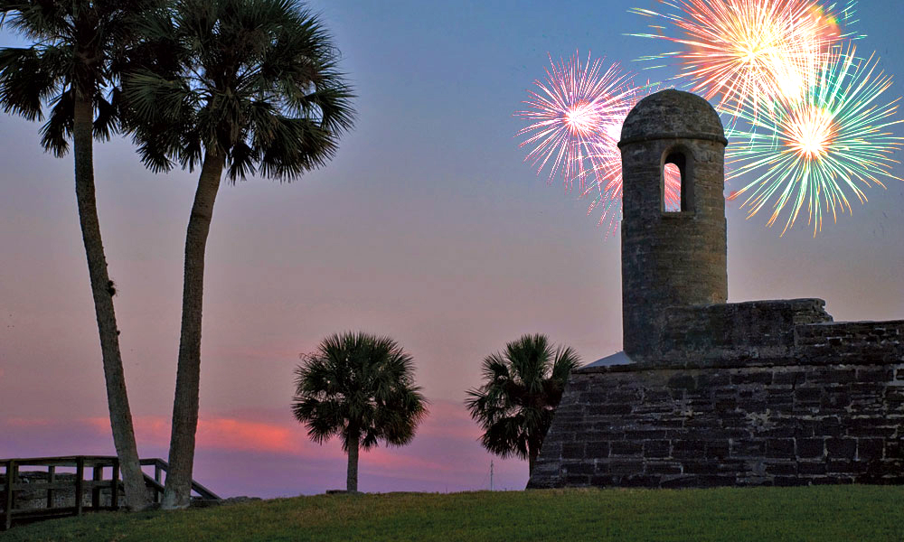 2016 Fourth Of July Fireworks In St Augustine Fl