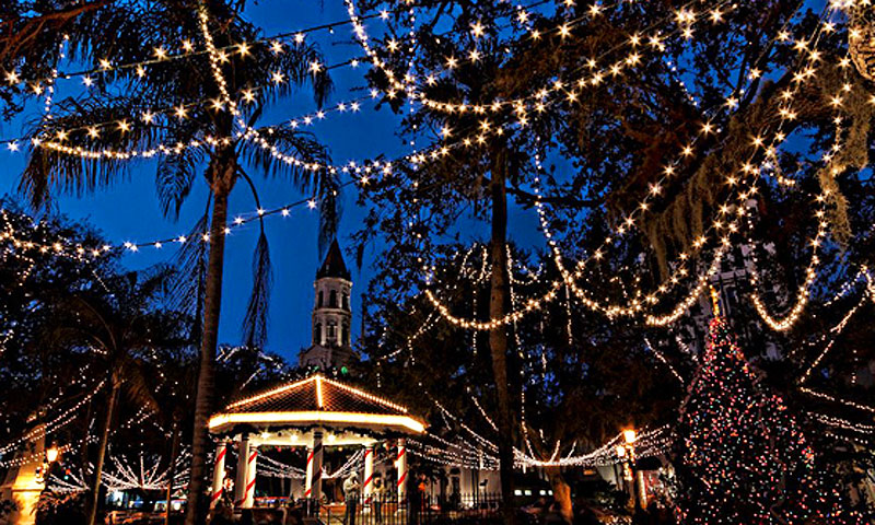 Christmas Lights In St Augustine