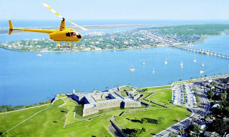 Old City Helicopters Visit St Augustine