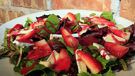 Scarlett's Strawberry and Brie Salad.