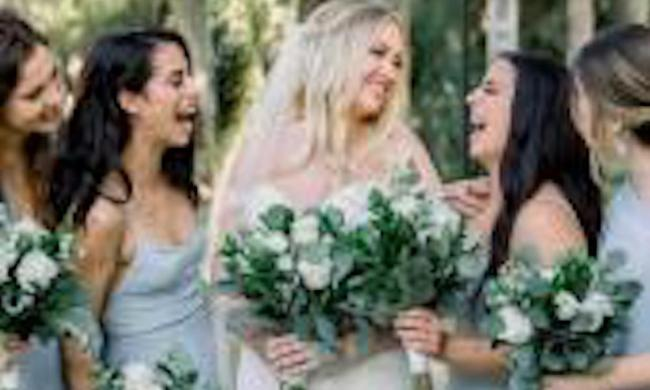 Bridal party with their hair done by Prim Salon