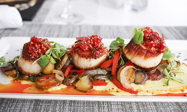 Scallops at 3 Palms Grille in Ponte Vedra Beach, Florida