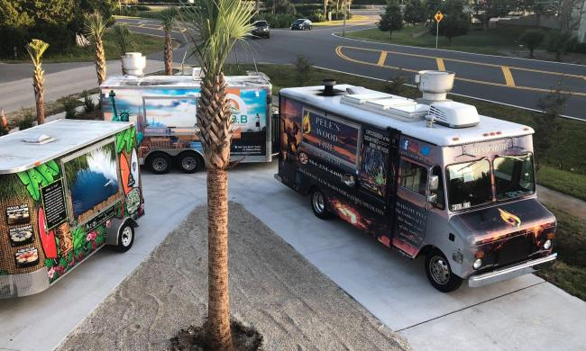Food trucks at the Village Garden