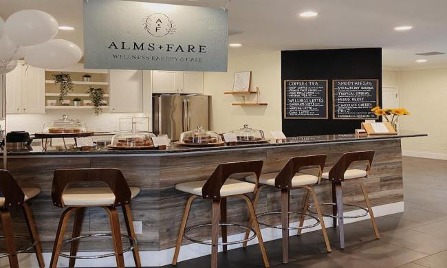 Alms + Fare offers wholesome baked goods, coffee, tea, wellness lattes, and smoothies in St. Augustine, FL