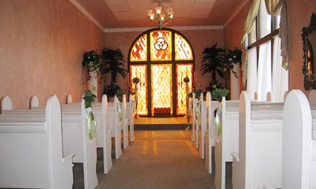 The Amore Wedding Chapel, located in the Lightner Building in St. Augustine.