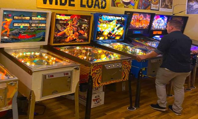 A gentleman plays some of the classics at Anastasia Island's Arcade Museum in St. Augustine, FL.