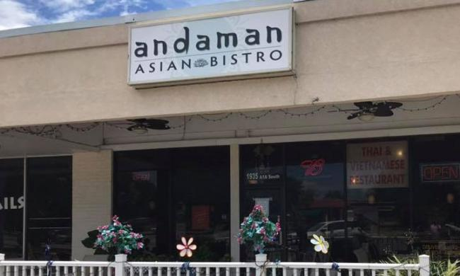 The entrance to Andaman Asian Bistro on Anastasia Island in St. Augustine.