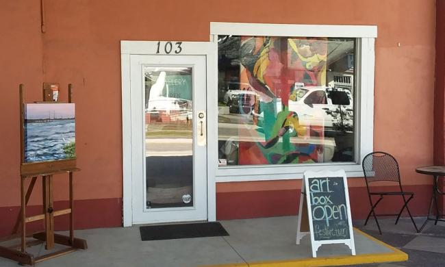 The entrance to ArtBox at 137 King Street in St. Augustine.