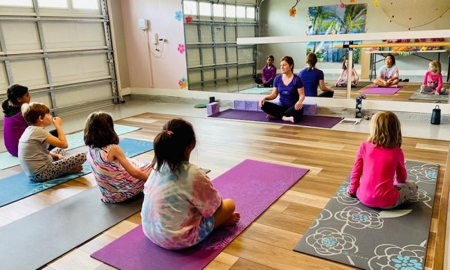 Yoga therapy at Awetism Wonderland in St. Augustine, FL.