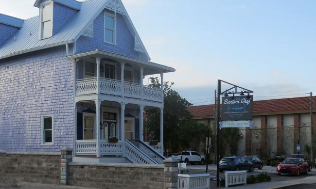 The Bantam Chef Restaurant in a restored gingerbread Victorian in St. Augustine.
