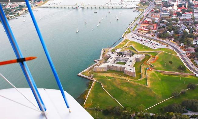 Biplane ride offers breathtaking views of the city!