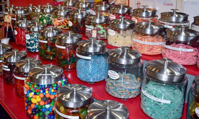 Jars of candy at Black Parrot in St. Augustine, Fl