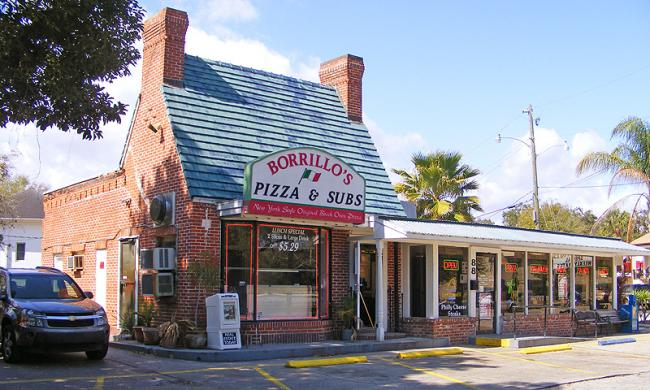 Borrillo's Pizzeria and Beer Garden on San Marco in St. Augustine.