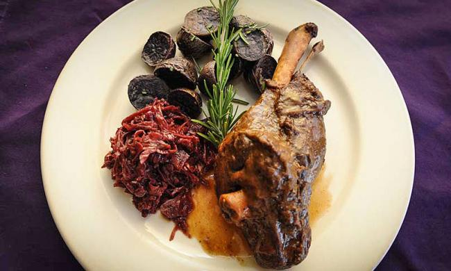 Cabernet braised lamb at the Purple Olive Bistro in St. Augustine Beach.
