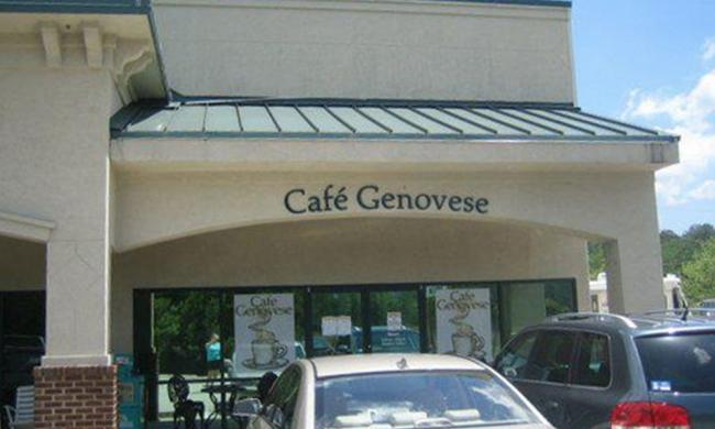 The exterior of Cafe Genovese on Old County Road (210) in St. Augustine.