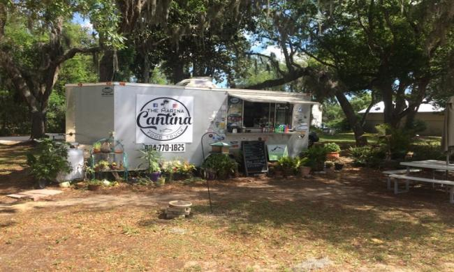 The Marina Cantina Food Truck Exterior in St. Augustine, Fl
