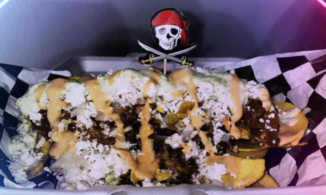 Tachos at Captain Scallywag's tood truck in St. Augustine, FL