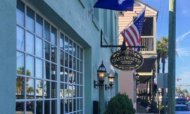 The Chatsworth Pub and Tea Room is located just across from the downtown marina in St. Augustine, FL.