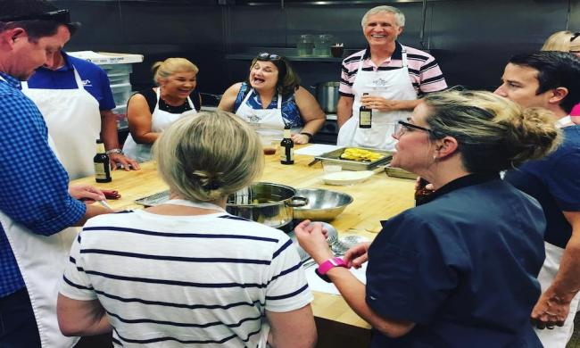 A cooking class at A. Chef's Cooking Studio in Ponte Vedra, FL