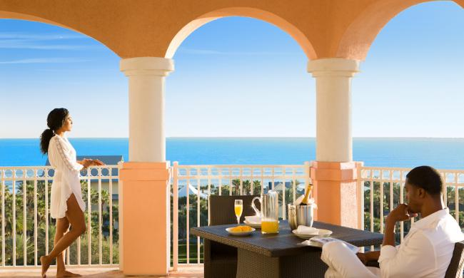 Ocean and golf course views at Hammock Beach Golf Resort & Spa