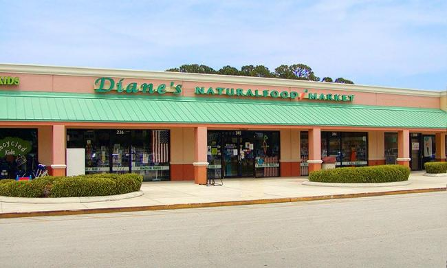 Diane's Natural Food Market and Cafe is located off State Road 312 in St. Augustine, Florida.
