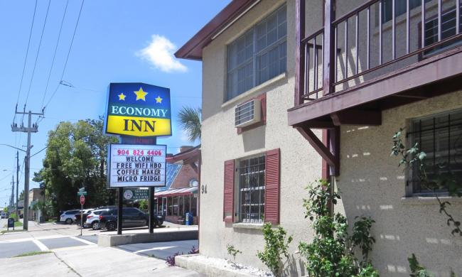 The Economy Inn on San Marco in the Uptown District of St. Augustine.