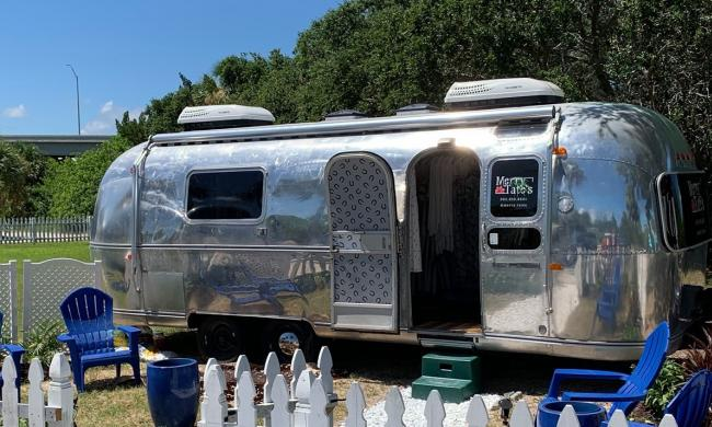 Airstream Row hosts a pop-up market featuring artisans and local entrepreneurs selling their wares.