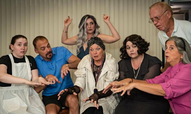 "The cast of A Classic Theatre's production of Noel Coward' ""Blithe Spirit"" in St. Augustine."